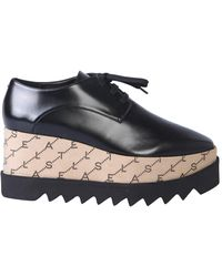 Stella McCartney Elyse Leather Lace-up With Monogram - Black