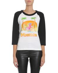 Moschino - Little Pony Printed T-shirt With Contrast Sleeve - Lyst