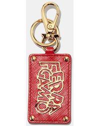 Ferragamo - Letter Tag Keychain - Lyst