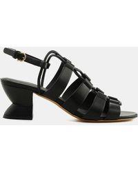 73853049b347 Lyst - Ferragamo My Sandal Wedge in Black
