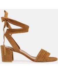 Stuart Weitzman - Swifty Suede Ankle-tie Sandal - Lyst