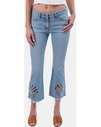 3x1 - Freja Cropped Bell-bottom Jeans In Elkhorn - Lyst