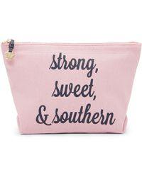 Eloquii - Draper James Strong Sweet And Southern Canvas Pouch - Lyst