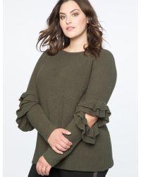 Eloquii - Ruffled Cutout Sweater - Lyst