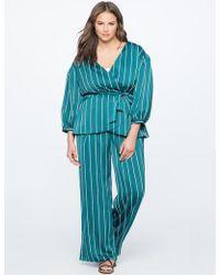 Eloquii - Pinstripe Wide Leg Pajama Pant - Lyst