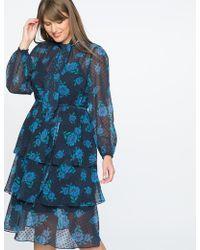 Eloquii - Draper James For Floral Print Swiss Dot Dress - Lyst