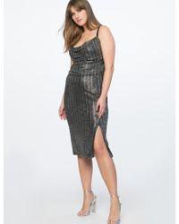 Eloquii - Cowl Neck Metallic Dress - Lyst