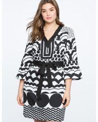 Eloquii - Flounce Sleeve V-neck Dress - Lyst