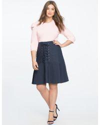 Eloquii - Pinstripe Skirt With Corset Detail - Lyst