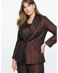 0e71b5b150 Lyst - Eloquii Sequin Pearl Embellished Blazer in Black