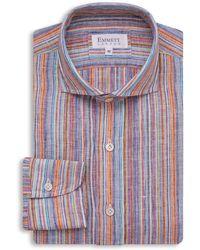 Emmett London - Multicolour Stripe Linen Shirt - Lyst