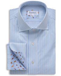 Emmett London - Light Blue Stripe Shirt - Lyst