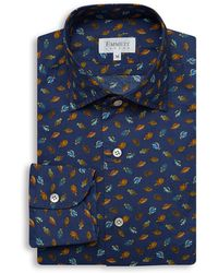 Emmett London - Navy Fish Print Shirt - Lyst