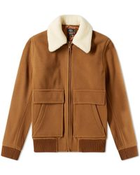 A.P.C. - Bronze Shearling Wool Jacket - Lyst