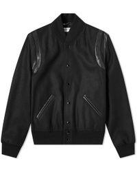 Saint Laurent - Light Wool Teddy Jacket - Lyst