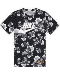 Nike - Floral Tee - Lyst