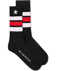 Givenchy - Short Star Sports Sock - Lyst