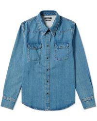 CALVIN KLEIN 205W39NYC Denim Overshirt - Blue