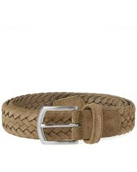Andersons - Anderson's Woven Suede Belt - Lyst