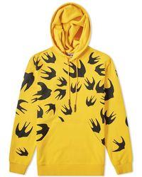Lyst - McQ Mcq By Alexander Mcqueen Neon Print Crew Sweat in Yellow ... faf21fc6c6b