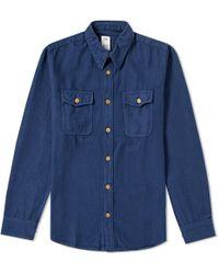 Visvim - Black Elk Flannel Shirt - Lyst
