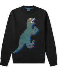 Paul Smith - Dinosaur Print Crew Sweat - Lyst