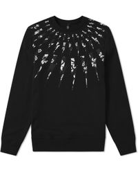 Neil Barrett - Fairisle Floral Lightning Bolt Sweatshirt - Lyst