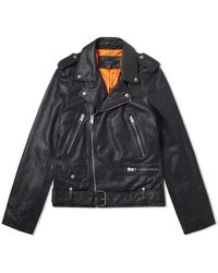 Ksubi - Loathing Leather Biker Jacket - Lyst