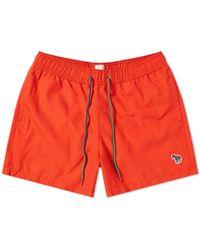Paul Smith - Red Zebra Logo Swim Shorts - Lyst