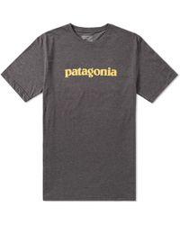 Patagonia - Text Logo Tee - Lyst