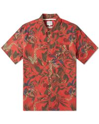 Norse Projects Carsten Print Shirt - Red