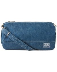 Head Porter | Denim Barrel Shoulder Bag | Lyst