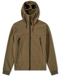 C P Company Soft Shell Goggle Jacket - Green