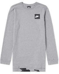 Nike - Long Sleeve Aop Tee - Lyst