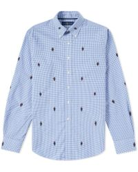 Polo Ralph Lauren - Bear Jacquard Gingham Poplin Shirt - Lyst