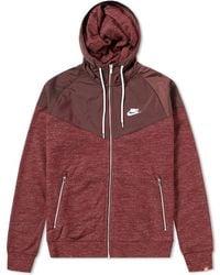59acb8ceaa18d Lyst - Nike Tech Fleece Windrunner Hoody in Pink for Men
