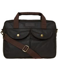 Barbour - Wax Longthorpe Laptop Bag - Lyst