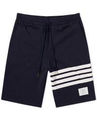 Thom Browne - Engineered Stripe Sweat Short - Lyst