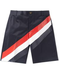 Thom Browne - Diagonal Stripe Chino Short - Lyst