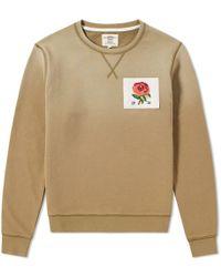 Kent & Curwen - Rose Embroidered 1926 Sweatshirt, Moss Brown Sweat - Lyst