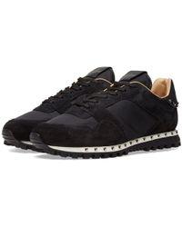 Valentino - Nylon Camo Studded Sneaker - Lyst