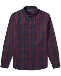 Thom Browne - Fred Perry Winter Tartan Shirt - Lyst