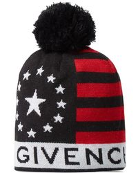 Givenchy - Stars And Stripes Knitted Hat - Lyst