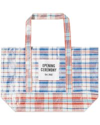 Opening Ceremony - Plaid Tote Medium - Lyst
