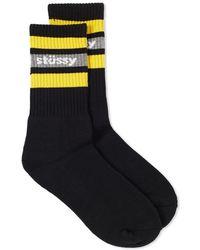 Stussy - Stripe Sp18 Crew Sock - Lyst