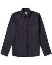 Aspesi - Patch Pocket Cotton Twill Chore Jacket - Lyst