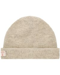 ddd75bc2dfb Nigel Cabourn Ribbed Beanie Hat in Gray for Men - Lyst