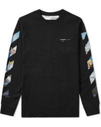 Off-White c/o Virgil Abloh - Long Sleeve Colour Painting Diagonals Tee - Lyst