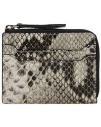 Dries Van Noten - Snakeskin Zip Wallet - Lyst
