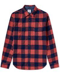 Save Khaki - Buffalo Plaid Camp Shirt - Lyst